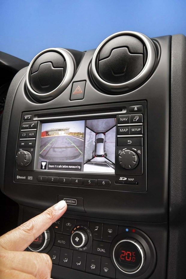 Infiniti was also first to introduce a camera system that could provide a 360-degree, or 'bird's eye,' view of what's around a car, in 2007. The EX35 was the first model sold with the Around-View Monitor in North America, while Nissan's Japan-only Elgrand van beat the Infiniti to the punch, getting it earlier that same year.