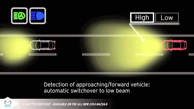 General Motors' 'Autronic Eye' was the first automatic high-beam system. Cadillac began using it in 1952, and it lasted until 1988.