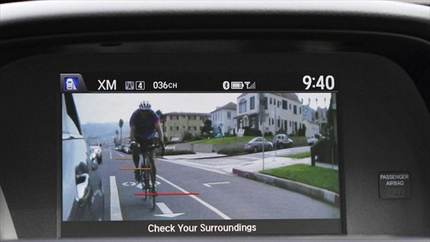 BLIS was a camera-based setup that evolved into a radar-based system with sensors mounted behind rear quarter panels. Camera-based systems are back, however, with Honda's LaneWatch using a camera in the right-hand mirror housing to broadcast an image to the display screen in the dash.