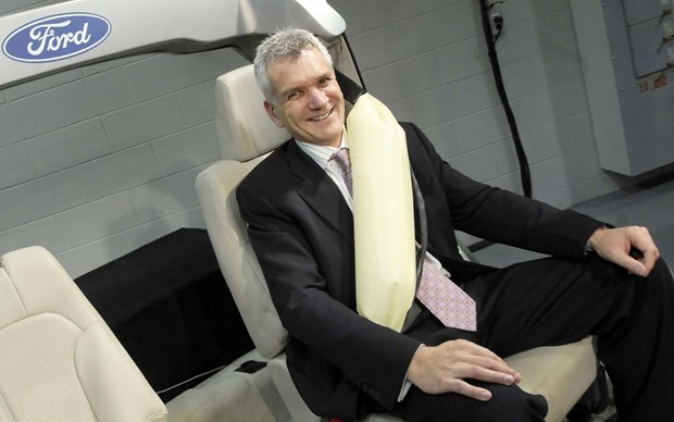 Ford gets the credit for being first to offer inflatable seatbelts in a high-volume production vehicle: they were available in the 2011 Ford Explorer, and later in the 2013 Flex. Other such systems have been available in the Mercedes-Benz S-Class since 2013, and Ford of Europe has offered its inflatable belts in the Mondeo since 2014.