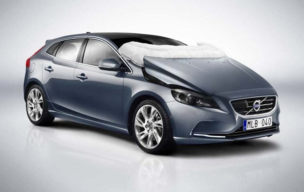 Recent years have seen vehicle designs take into account not only the safety of those inside the car, but also to protect pedestrians. Volvo took the unique step of putting an airbag under the hood of its 2012 V40 to provide head protection to anyone with the misfortune of being struck by the Swedish compact hatchback.
