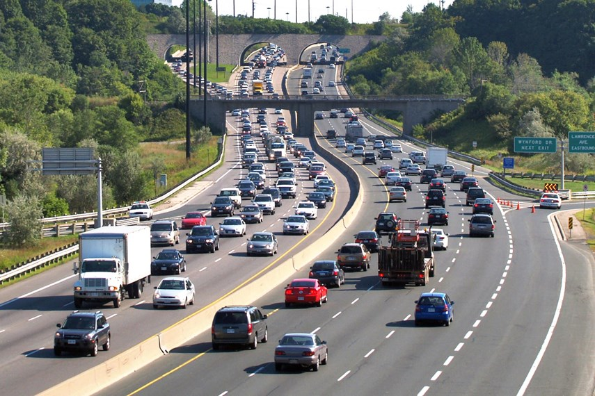 Traffic Congestion on Don Valley Parkway, Toronto