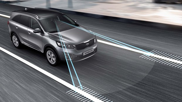 Infiniti brought the first lane departure warning system to North America in the 2004 FX crossover and 2005 M sedan. It used a camera in the rearview mirror housing to track lane markings on the road, and generated an audible warning if the car began to drift over the line.