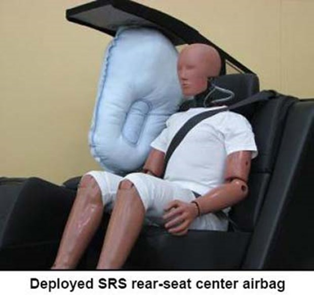 Interestingly enough, though, the first centre airbag was installed in the rear seat of a Toyota Crown Majesta, a luxury model sold in Japan.