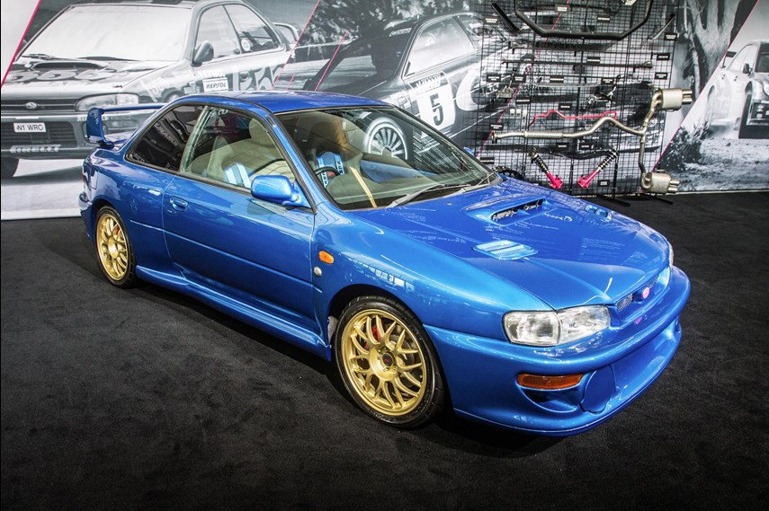 """For most Subaru fans, this is the Holy Grail of cars, the one that makes folks stop in their tracks with a shout of, """"Sweet mother of rally blue pearl!"""""""