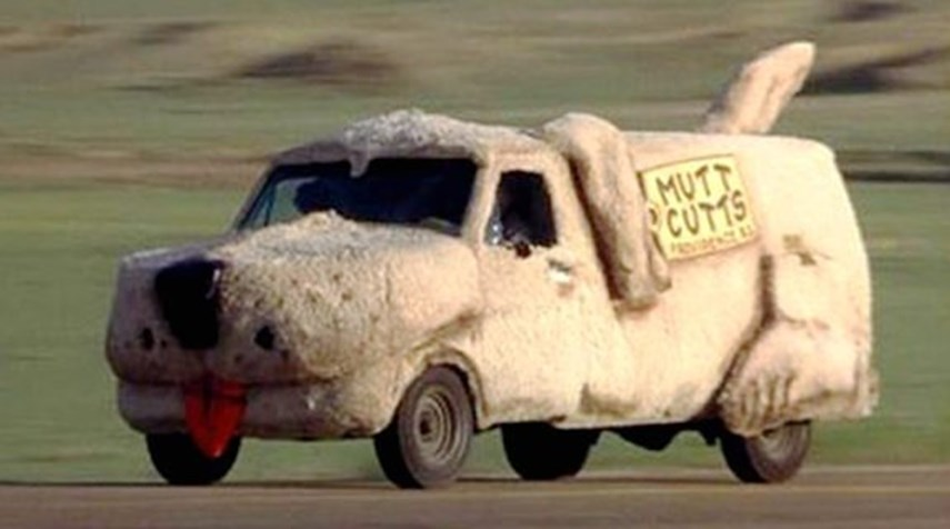 """A Ford Econoline only in name (also known as an """"'84 Sheepdog""""), Harry's famous company car should be a shoe-in for Hot Wheels lore.<br /><br><br><br />Not only is this the most famous car from the film (except maybe the Lamborghini Diablo they manage to procure thanks to a briefcase loaded with cash), it could very well be the most famous vehicle from the comedy genre, this side of the Wagon Queen Family Truckster.<br /><br><br><br />Question is, would Mattel pony up the dough to add floppy ears, a tongue and to finish the whole thing in fur?"""